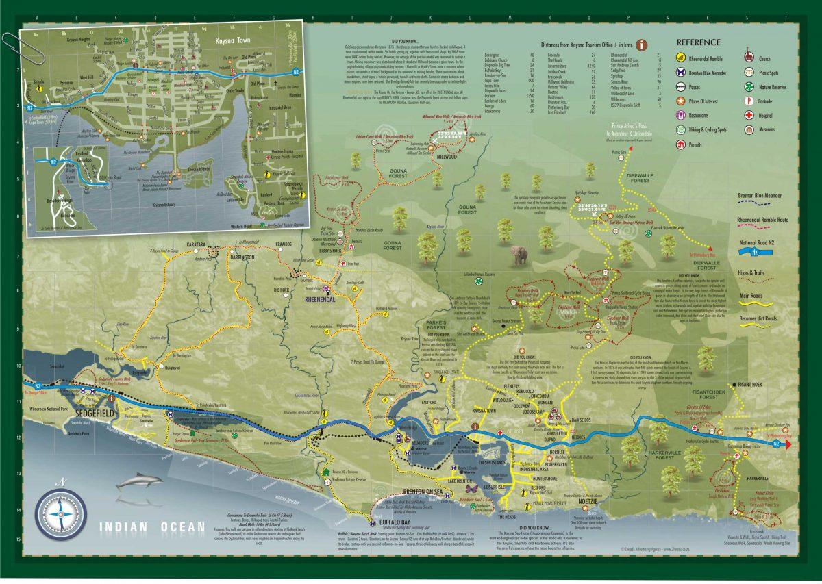 mapa de trilhas
